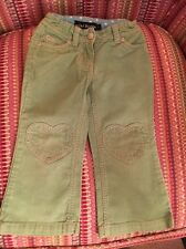 Girls Mini Boden Cords Trousers Apple Green 3 Years