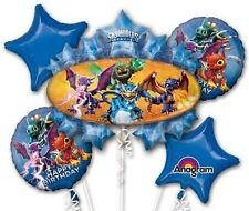 Five Balloon Skylanders Birthday Bouquet Balloons