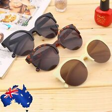 Black Lens Retro Vintage Men Women Round Circle Frame Sunglasses Glasses Eyewear