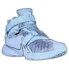 Nike Zoom Soldier 9 - Men's Basketball Shoes (BL GY/Squadron BL Width:Medium)