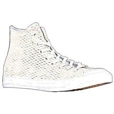 Converse All Star Leather Hi - Men's Basketball Shoes (WT/WT/GD - Width:Medium)