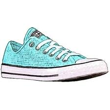 Converse All Star Perfed Canvas - Women's Basketball Shoes (Motel Pool/BK/WT -