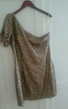 Gold / Bronze / Rose Gold sequin party dress size 16