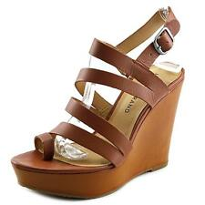 Lucky Brand Fairfina Women US 8 Tan Wedge Sandal 2035