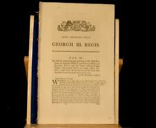 1798 ACT of PARLIAMENT KING Duty Pensions Estates