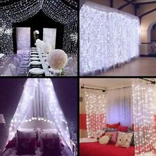 Window Curtain Icicle Lights LEDs Outdoor Indoor Home Christmas Wedding Decor