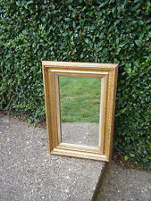 Antique Vintage Quality Ornate Gilt Framed Rectangle Wall/Hall Mirror