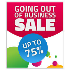 Going Out Of Business Window Retail Custom Sale Sign