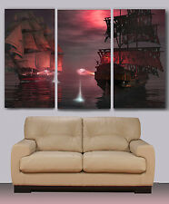Old pirate ship, Huge canvas print, ready to hang, rolled, wall decor, painting