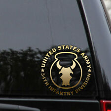 Army 34th Red Bull Infantry Division Decal Sticker Veteran Window