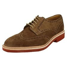 'Mens Loake' Rounded Toe Lace Up Smart Brogue Shoes - Logan