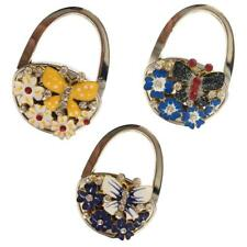 Stunning Folding Handbag Purse Hanger Desk Oval Hook Holder Butterfly Decor