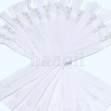 Lots of 9Inch Nylon Coil Invisible Sewing Zipper Tailor Sewer Craft White MA