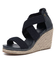 New Walnut Melbourne Dusty Wedge Navy Women Shoes Casuals Sandals Wedges