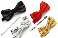 Tartan Bow Tie Glitter Sparkly Sequin Dickie Dicky Dance Party Fancy Gift Set