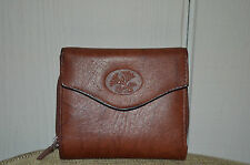 Buxton Brown Leather Heiress Minimizer French Accordian Wallet