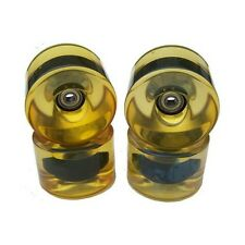 76mm 81a Yellow Cruise Longboard Wheels Abec 9 Bearings