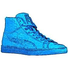 PUMA Suede Mid ME Iced - Men's Basketball Shoes (Royal/White Width:Medium)