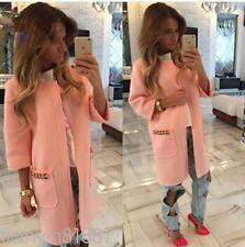 Fashion Womens Long Sleeve Candy Color Blazer Casual Jacket Suit Coat