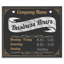 Business Store Hours Now Open Custom Window Retail Sale Sign
