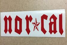 "Nor Cal Logo Vinyl Window Decal Sticker 5 1/2"" Choose Your Color"