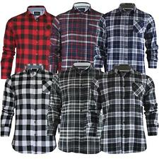 MENS BRUSHED FLANNEL CHECK SHIRT LONG SLEEVE THICK COTTON CASUAL TOP (S-XL)