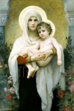 William-Adolphe Bouguereau The Madonna of the Roses Art Print - 24x36