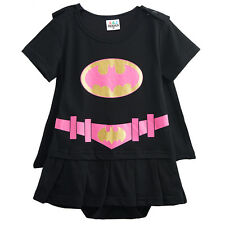 Baby Girls Batgirl Costume Romper Infant Superhero Playsuits Toddler Party Dress