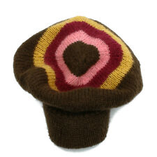 Girls Diesel Winter Hat Folky Kids Knitted Warm Brown Size Youth NEW