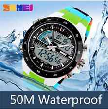 SKMEI AD1016 Analog Digital Multi-function Waterproof Men Sport Wrist Watch -New