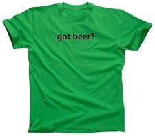 GOT BEER? Funny College Party Cool Retro Tee Drinking - T-Shirt - NEW - Green