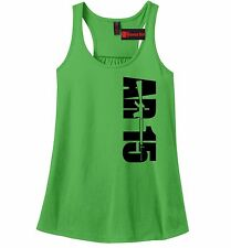 AR15 Side Print Ladies Soft Tank Top Gun Rights Hunting Rifle Gift Racerback Z6