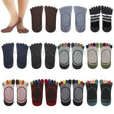 Women Cotton Five Finger Toes Separators Ankle Socks Low Cut No Show Casual Sock