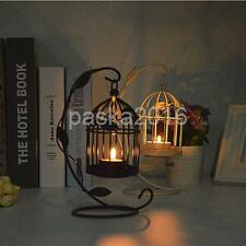 White / Black Wedding Decor Birdcage Hanging Stand Candle Holder Candlestick