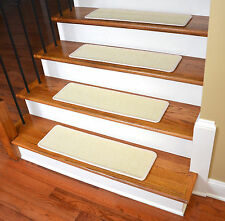 "Dean Non-Slip Pet Friendly Natural Sisal Carpet Stair Treads - Island Ivory 29""W"
