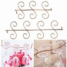 Red Wine Glass Rack Glass Cup Stemware Holder Shelf 6/8-Glass Hanging Wine Rack