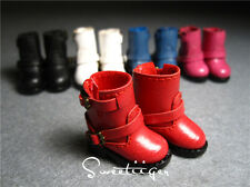 "【Tii】1/6 12"" Blythe Pullip doll shoes leather boots azone cherryB doll outfit"