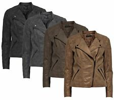 Ladies LEATHER Jacket AVA Faux leather BIKER Jacket Suede Faux leather