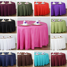 Polyester Round Tablecloth Decoration Supplies Dinner Wedding Linens Party Sale