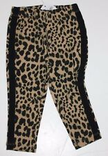 baby Gap NWT Girls 12 18 Mo Leopard Leggings Pants w/ Black Tuxedo Stripe Sides