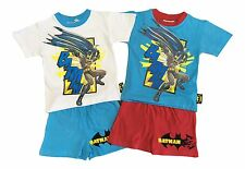 Batman Boys Toddler 100% Cotton Soft Short Sleeve Shirt / Shorts Pyjamas Pjs Set