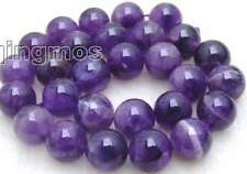 "SALE Big 14mm Round natural Amethyst loose gemstone beads strand 15""-los352"
