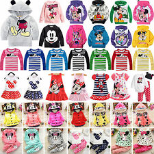 Kids Baby Girl Mickey Minnie Hoodie Sweatshirt Coat Tops Pants Dress Outfits Set