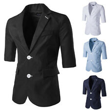Fashion Stylish Mens Casual Slim Fit Two Button Suit Blazer Coat Jacket Tops