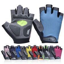 MTB Bike Bicycle Cycling Half Finger Gloves Gel Silicone Padded Sport Fingerless