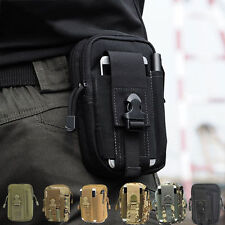 Men's Tactical Military Waist Bags Belt Molle Pouch Fanny Pack Phone Pocket Case