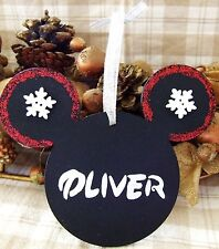 DISNEY MICKEY MOUSE HANDMADE PERSONALISED CHRISTMAS TREE DECORATION XMAS GIFT