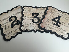 French Style Wedding Venue Decorations Table Number Bride & Groom Sign Bunting