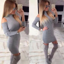 1pcs Dress Gray Bodycon Womens Tight Thread Mini Club Tight Dress New Hot