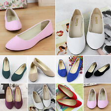 New Womens Suede Ballerina Boat Shoes Slip On Flats Loafers Casual Ballet Shoes